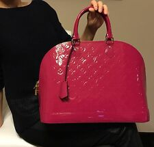 Louis Vuitton (LV) Alma GM Patent Leather Satchel -Indian Rose Color