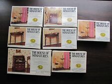 House of Miniatures 7 Kits 5 NEW SEALED 2 opened but unassembled
