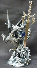 DEFENDER  Dragon with Blue Globe and Sword   Figure Statue H10""