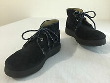 Naif Made in Italy Chukkas Ankle Boots Black Suede Little Boy's Size 29