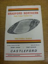 01/01/1978 Rugby League Programme: Bradford Northern v Castleford  . Condition: