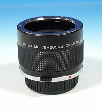 Vivitar mc 75-205mm 2x matched Multiplier tele converter for Olympus o/om - 6269