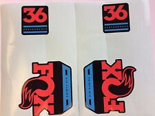 FOX Performance Series Fork 36 Blue / Red Left & Right Decal Set 34mm Stickers