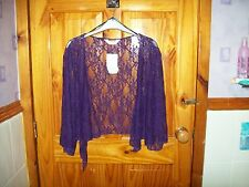 ***NEW*** PURPLE  LACE WRAP /SHRUG SIZE 26-28***FREE P&P UK ONLY