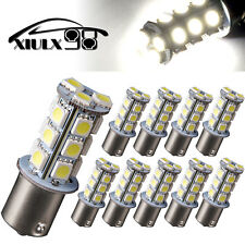 10x 1156 BA15S 18SMD LED Turn Signal Backup Reverse Light Bulbs Natural White