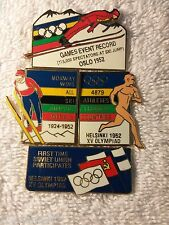 HELSINKI /OSLO 1952 4 PIN SET / PT OF 1996 COCA COLA OLYMPIC 100  PIN COLLECTION