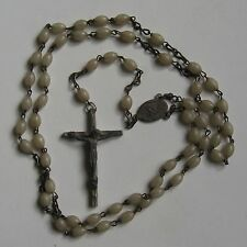 Vintage Italy Off White Rosary Beads