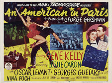 "An American in Paris 1951 16"" x 12"" Reproduction Movie Poster Photograph"