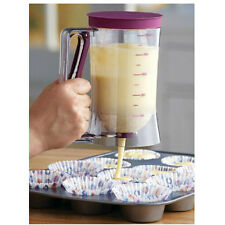 Cupcake Pancake Batter Dispenser Muffin Waffles Helper Mix Pastry Jug Baking New