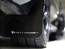 Rally Armor Mud Flaps Guards for 08-10 Impreza & WRX (Black w/White Logo)