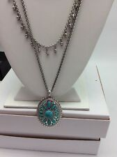 $48 Lucky Brand Turquoise Natives Large Pendant Multi Layer Necklaces