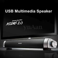 MIDAS-2.0 USB HiFi Audio Sound Bar Speaker Player For Computer Desktop PC Laptop