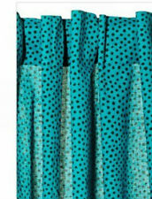 IKEA NATVIDE Pair of Curtains  2 panels Aqua Blue Turquoise Dots Cotton New