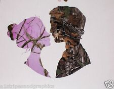 Pink Camo Husband & Camo Wife Window Decal Decals Real Tree Sticker M4 Mossy Oak
