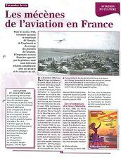 Mécènes Aviation Michelin /Perrot-Duval Meeting de Reims Champagne FRANCE FICHE