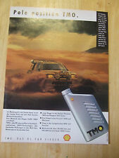 PEUGEOT 205 T 16 SHELL OIL GERMAN POSTER ADVERT READY TO FRAME A4 SIZE
