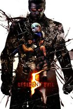 "Resident Evil - 1 2 3 4 5 6 Biohazard Zombie Shoot TV Game 36""x24"" Poster"