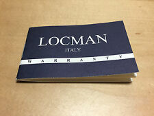 Used - LOCMAN Italy - Instructions and Warranty booklet - For Collectors