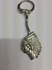 Indian Chief PP-W05 English Pewter Emblem on a Snake Keyring