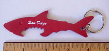 GREAT WHITE SHARK JAWS RED METAL SOUVENIR BOTTLE OPENER SAN DIEGO CALIF KEYCHAIN