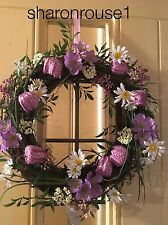 Gisela Graham Easter Springtime Wreath Home Wall Door Fritillaria Mixed Flowers