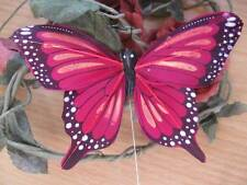 Authentic Burgundy / Dark Red Feather Fantail Butterfly - 10.0cm wingspan