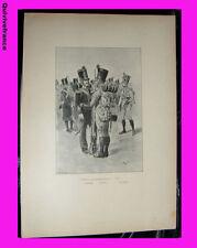planche Légions Départementales Chasseur, Fusilier, Grenad. 1816 Maurice Orange