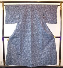 Vintage authentic blue Japanese kimono for women, Japan import (G775)