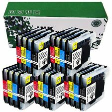 20 Ink Cartridge LC65 HY For Brother LC61 DCP-195C 197C 365CN 375CW 385C 395CN