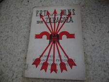 1944.FET y de las JONS Zaragoza.Memoria delegacion educacion popular..