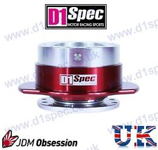 D1 SPEC UNIVERSAL RACING PADDLE STEERING WHEEL QUICK-RELEASE SV/RED JDM DRIFT