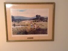 Lush Meadows 1991 Print By Adolph Sehring # 381 Of 1000 Signed Framed Rural