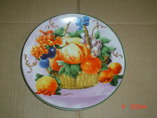Collectors Plate  Showing A Fruit Scene On a Lilac Coloured Background