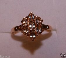 1.10 CTW COR-DE-ROSA MORGANITE ELEGANT ROSE GOLD OVER SS DESIGNER  RING SZ 8