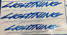 Ford F-150 Lightning Decals-LIGHT BLUE & REFLECTIVE COLORS Complete Set of 3