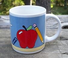 Teacher Coffee Cup Mug Red Apple A+ Appreciation Gift Lillian Vernon 1985 8 oz