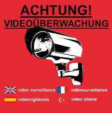 Aufkleber Warnaufkleber Kamera Video Überwachung Achtung Groß 10 x 10 cm