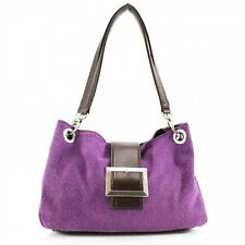 New Women Real Italian Suede Leather Buckle Shoulder Bag Ladies Hand Bag