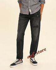 NWT HOLLISTER Classic Tapered Dark Destryoed Mens Jeans 34 x 32 $60