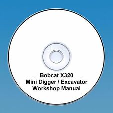 Bobcat x320 Mini Escavatrice Workshop e parti manuale