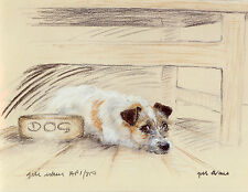 JACK RUSSELL TERRIER DOG LIMITED EDITION PRINT - Signed Artist Proof # 16/85