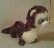 Ganz Webkinz Ferret Brown and Cream Pink Ears and Nose