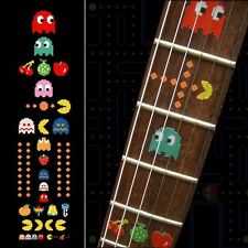 Pacman Fret Markers Inlay Sticker Decal Guitar
