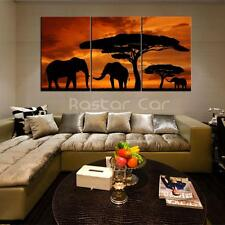 HD Canvas Prints home decor wall art painting Picture-Elephants 3PC Noframed #1