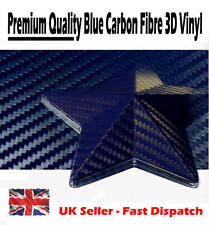 1520mm x 900mm Dark Blue 3D Textured Carbon Fibre Vinyl Film - Car Wrap Sticker
