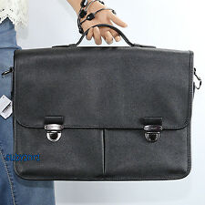 NWT Coach Men's Leather Business Tote Briefcase Messenger Bag 71486 Black RARE