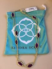 NWT Kendra Scott 'Kelsie' Long Station Necklace with Purple Jade Stones, $95