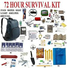 72 Hour 3 Day Disaster Emergency Survival Kit Bug Out Bag Camping Hiking zombie