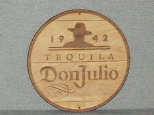"Don Julio Tequila 12"" Round Wood Sign Barrel Cask Top Style"