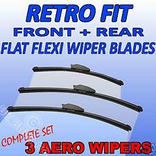 Front & Rear aero flat Wipers CHRYSLER Voyager 01+